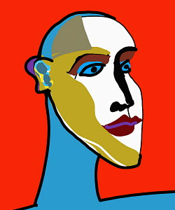 Modern art portrait