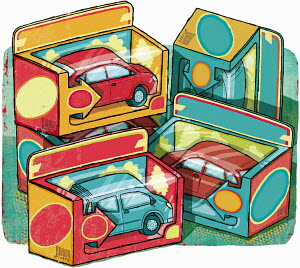 Boxes of collectible cars