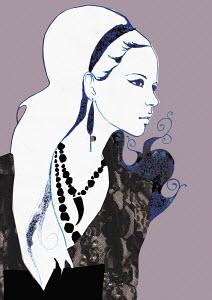 Glamorous retro woman