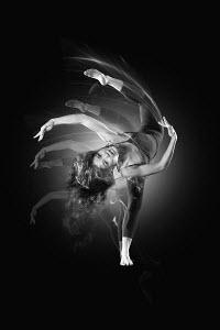 Flexible woman dancing