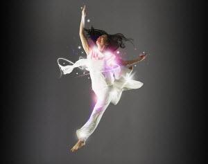 Glamorous woman dancing