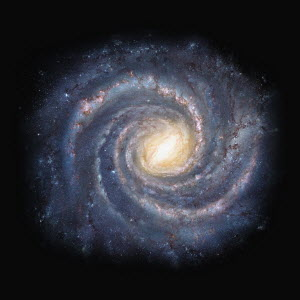 Swirling galaxy in outer space