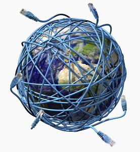 World wrapped up in ethernet cords