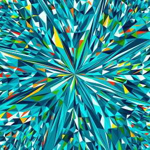 Vibrant angular multicolored abstract pattern