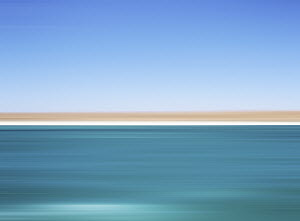 Defocused view of ocean and horizon