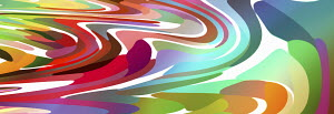 Distorted multicolored abstract backgrounds pattern