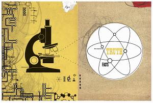 Microscope and molecular symbol