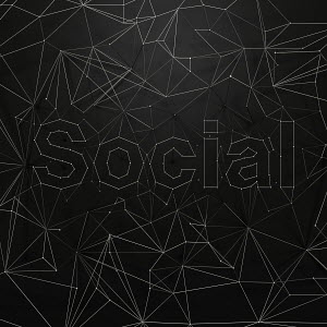 Network of dots and lines that spell �social�