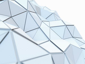 Curving textured low poly surface of connected triangles