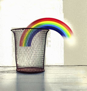 Rainbow in wastepaper basket - Rainbow in wastepaper basket