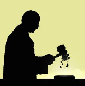 Judge using breaking gavel - Judge using breaking gavel