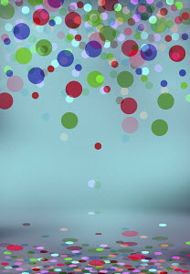 Abstract backgrounds pattern of falling multicolored circles