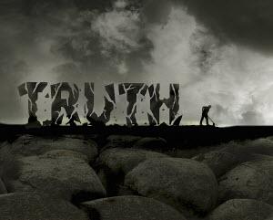 The word truth crumbling - The word truth crumbling