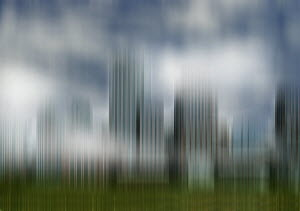Abstract blurred motion cityscape