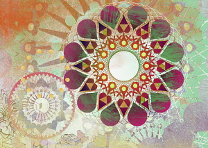 Concentric geometric abstract pattern