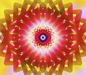 Vibrant kaleidoscope abstract