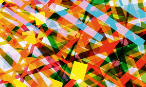 Abstract crisscross geometric pattern