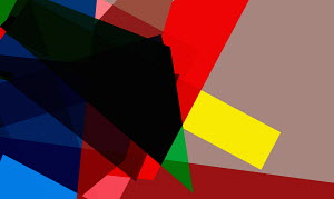 Abstract multicolored geometric shapes