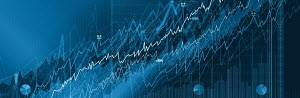 Ascending blue line graphs and charts