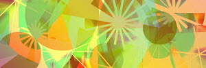 Vibrant abstract of lines and circles