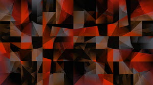 Abstract red and black geometric pattern
