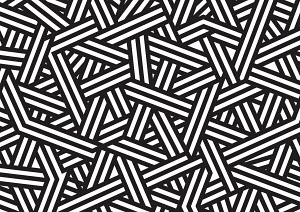 Abstract black and white crisscross pattern