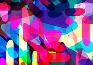 Multicolored abstract