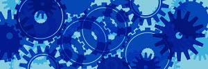 Blue cogs pattern