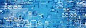 Abstract blue number pattern