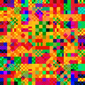 Abstract backgrounds pattern of multicolored geometric shapes
