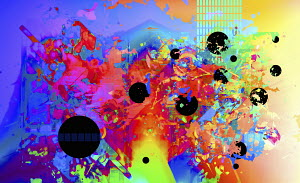 Abstract backgrounds pattern of multicolored splatters and circles