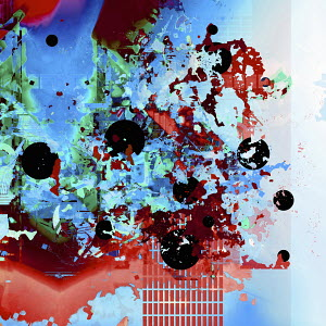 Abstract backgrounds pattern of splatters and circles