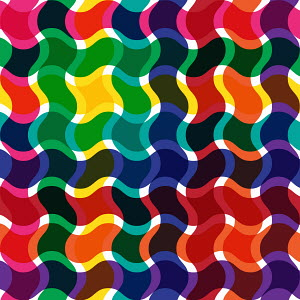Abstract backgrounds pattern of multicolored wavy lines