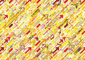 Abstract backgrounds pattern of lots of arrows pointing in same direction