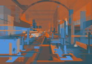 Futuristic abstract architectural design