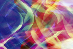 Wavy chaotic multicolor abstract