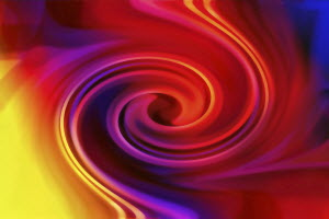 Colorful full frame abstract swirl pattern