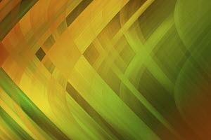 Abstract full frame green and yellow crisscrossing stripes pattern