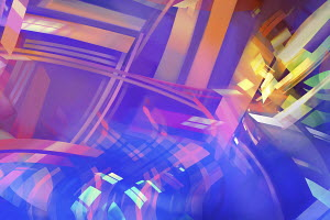 Abstract backgrounds pattern of multicolored overlapping lines and shapes