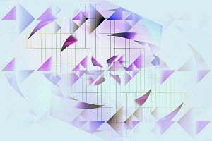 Abstract backgrounds pattern of grid and triangles