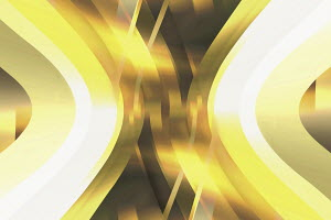 Abstract bright yellow overlapping curve pattern