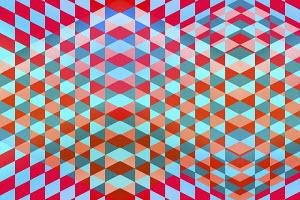Full frame geometric tile pattern