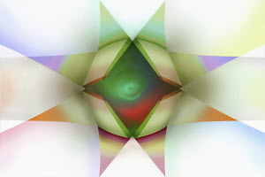 Abstract star shaped symmetrical pattern