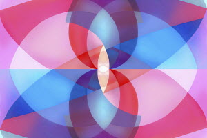 Abstract symmetrical overlapping curve pattern