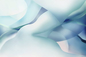 Abstract pattern of pastel blue shapes