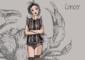 Portrait of Cancer woman zodiac sign
