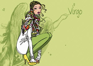 Portrait of Virgo woman zodiac sign