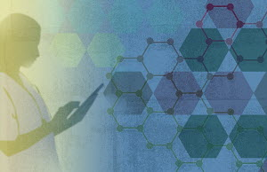 Doctor using digital tablet with molecule model - Doctor using digital tablet with molecule model