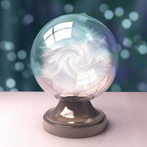 Fog inside crystal ball