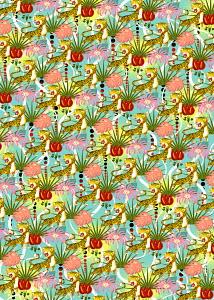 Repeat full frame leopard jungle pattern